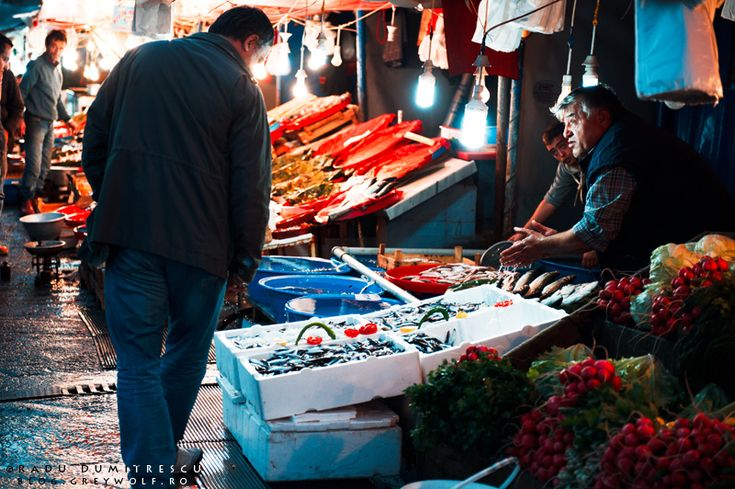 Istanbul's Karakoy Fish Market.     Taken in 2010, it looks like it could have been taken in 1950 (except for the light bulbs).