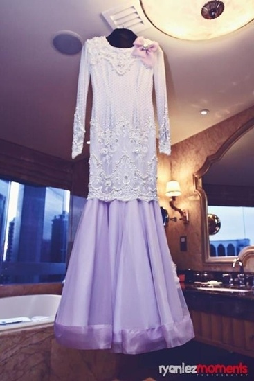 Sweet and pretty :) FashaSandha's Nikah Outfit <3