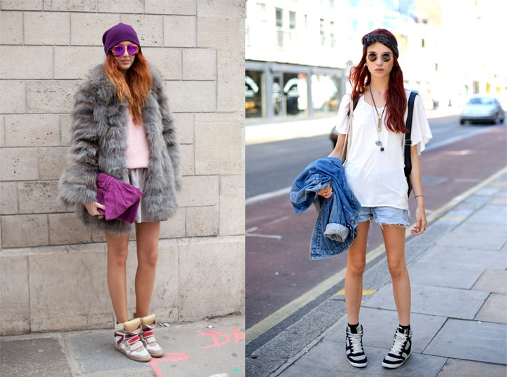 2012 Fashion Trend: Wedge Sneakers...comfy way to look taller w/o the pain of heels!!