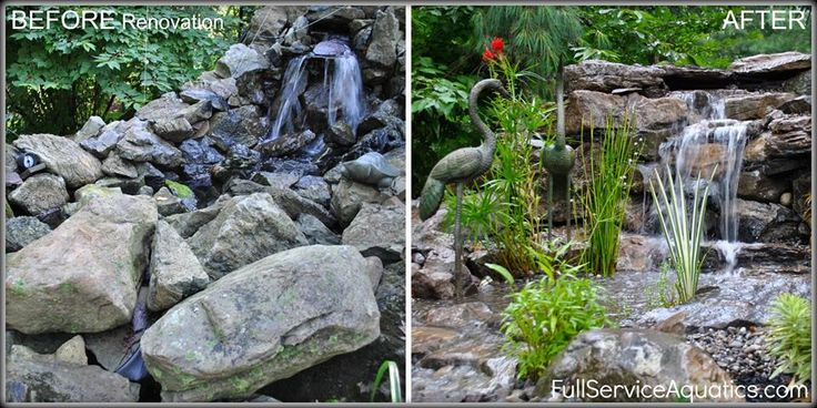 Transformation by Full Service Aquatics in Summit, NJ.   Before and After   Pinterest   Water features, Pond cleaning and Pond design
