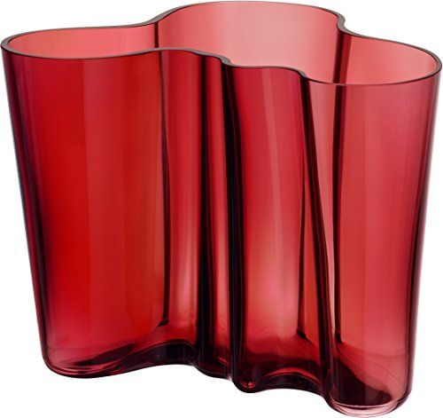 Iittala AA365081 Cranberry Vase, 8''w X 6.25''h ** Click on the image for additional details.