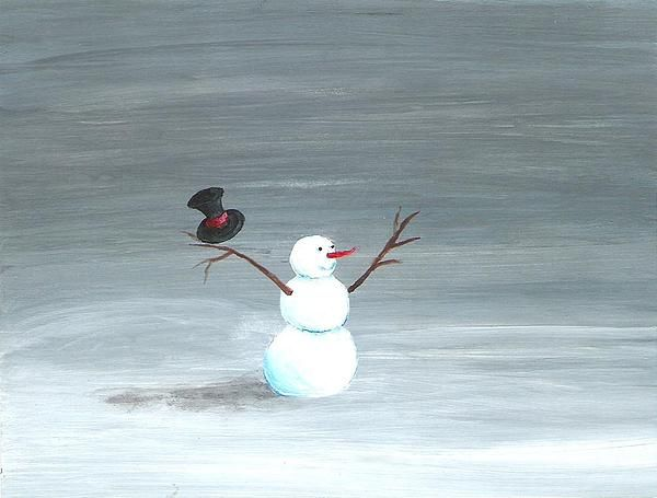 Whimsical Snowman .... Love never melts