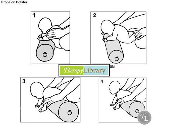 Facilitating Prone in Infants using the Bolster  http://therapylibrary.com/index.php?option=com_content=article=459=3267