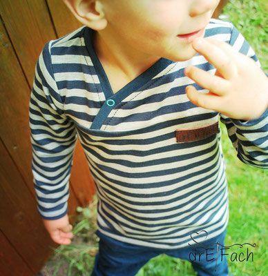 Freebook Levi - Shirt für Kinder mit Knopfleiste Größe 86 - 152 nähen