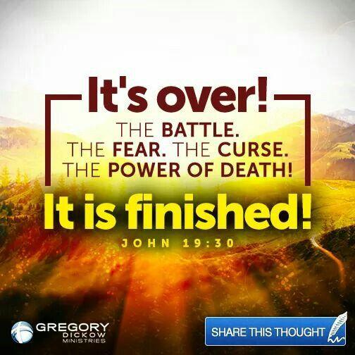 John 19;;30 its finish