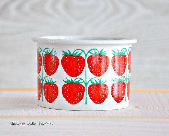 Vintage Jam Pot Canister Strawberry Pomona by SimplyLoveNordic, €40.00