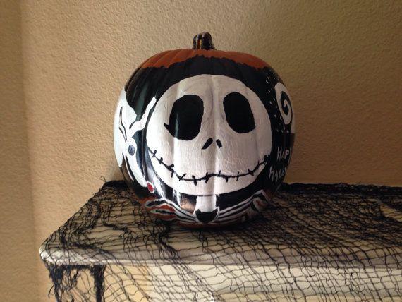 Hand painted Jack foam pumpkin by SavvySamsHomemades on Etsy