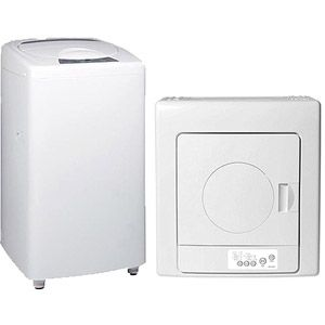Haier 1.46-cu. ft. Capacity Portable Washer with Electric Dryer Value Bundle  Just in case the laundry units don't get put in by the end of the year. I'm giving the company until September.