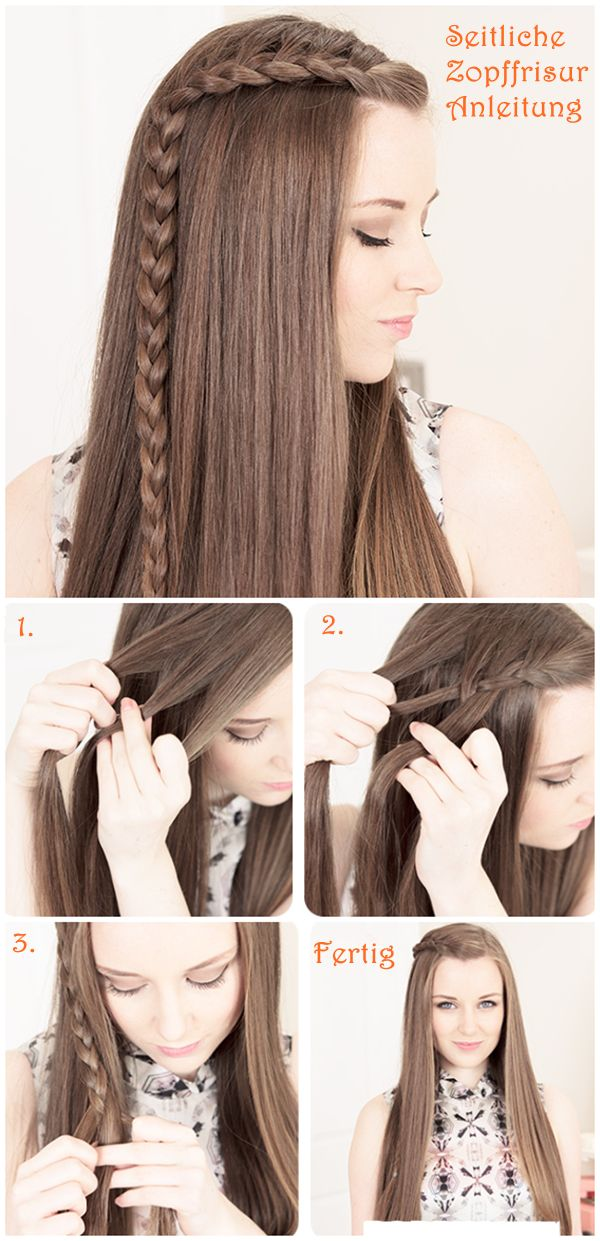 side braid Flechtfrisuren Hair Tutorial