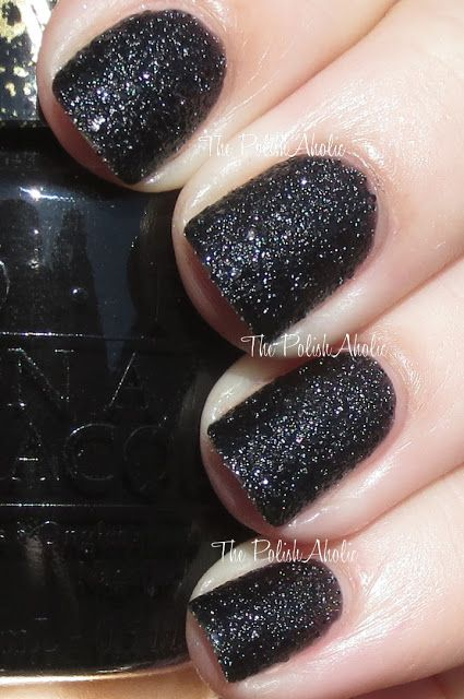 OPI Holiday 2013 Mariah Carey Holiday Collection Swatches Emotions is a black liquid sand