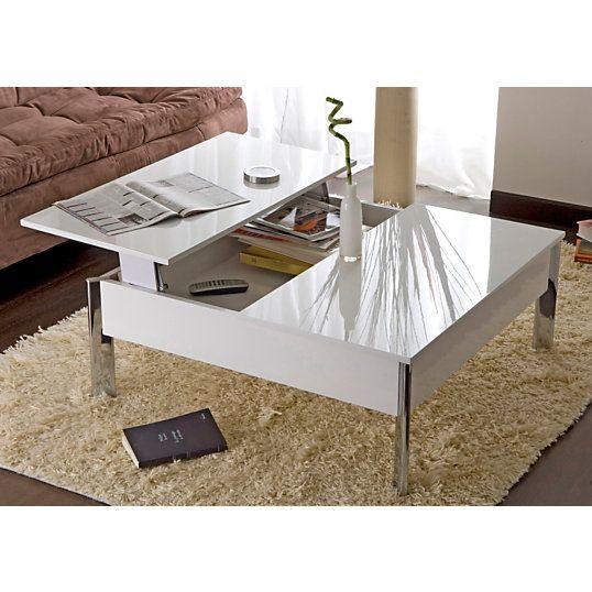 Table basse plateau relevable Versus - Tables basses - Meubles d'appoint - Canapés Salon