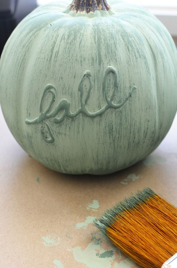 MichaelsMakers The Project Girl DIY chalkpaint pumpkin