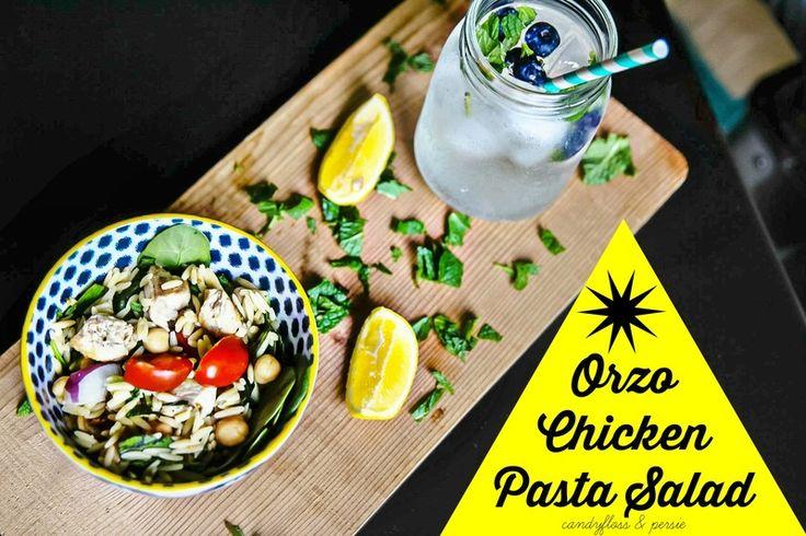 Orzo Chicken Pasta Salad   Candyfloss & Persie
