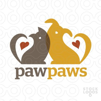 This is so cute! Dogs and cats with hearts, who doesn't love it! The colors are great and the overlapping makes the logo have a cozy feel! The nose is simple yet it is clear what the two animals are! Small details make this logo successful!