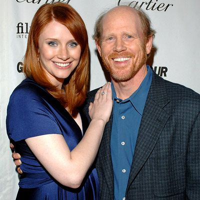 Bryce Dallas Howard and Ron Howard---