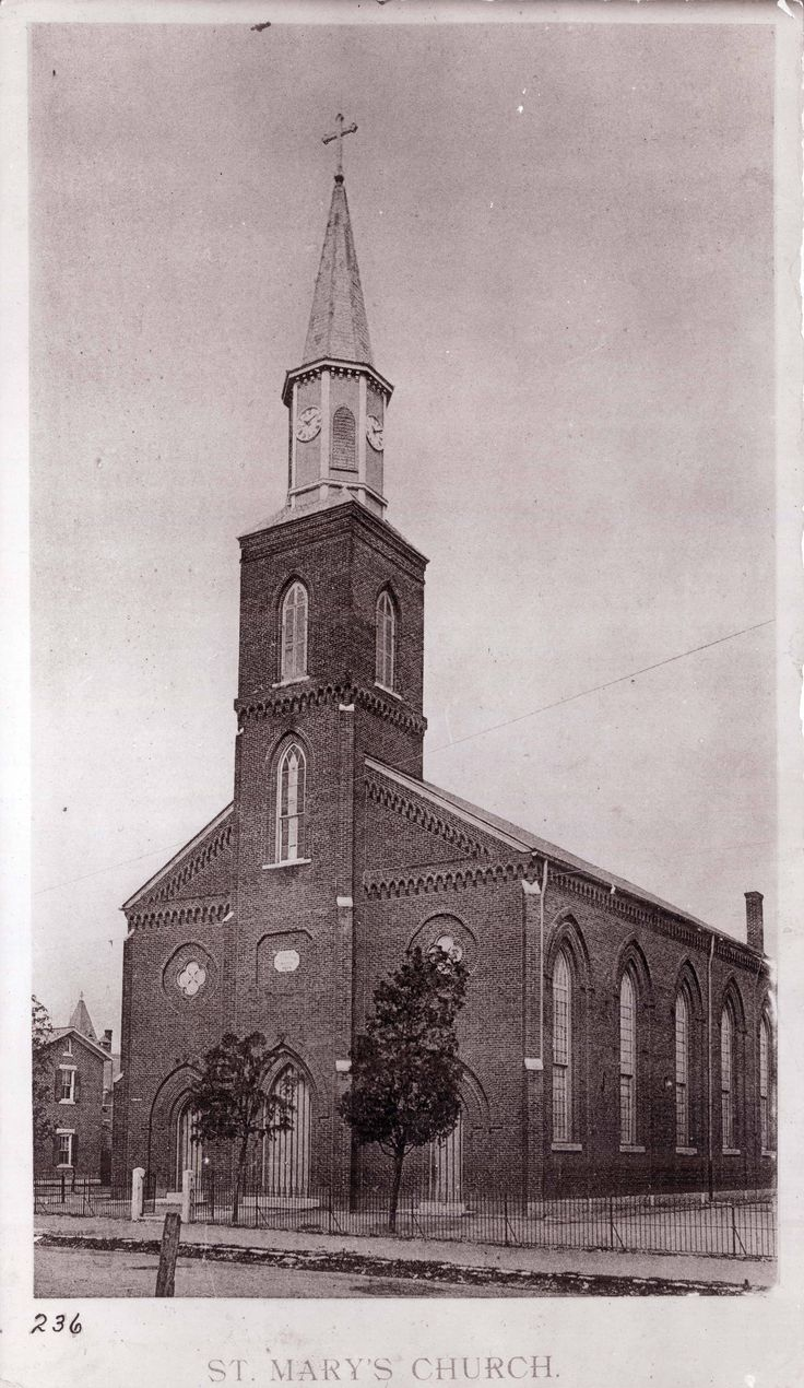 The First St Mary S Church On Xenia Avenue Built In 1859