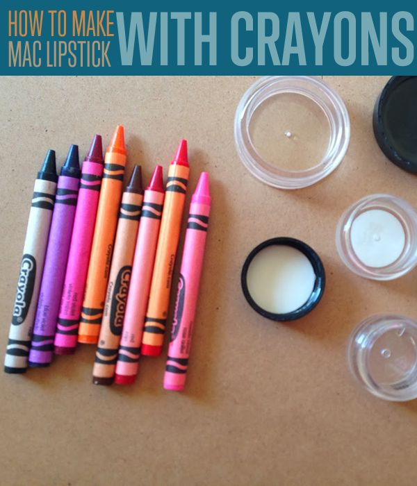 How to Make MAC Lipstick Colors With Crayons - DIY Projects | Craft Projects | DIY Ready | This step-by-step photo tutorial will show you how you can avoid spending a ton of money and time picking out lipsticks in department stores. So practical and budget wise! #DIYready