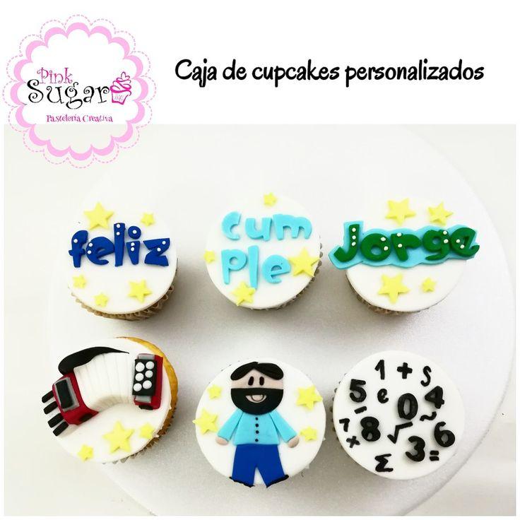 Cupcakes Feliz cumpleaños acordeón profesor matemáticas músico Barba