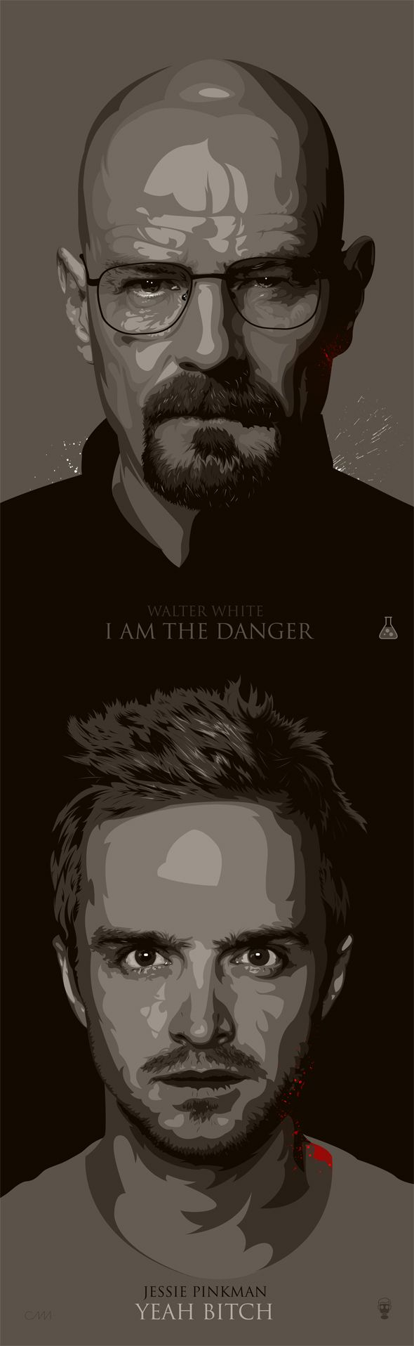 Breaking Bad Fan Art / Walter White / Jessie Pinkman by Ciaran Monaghan, via Behance