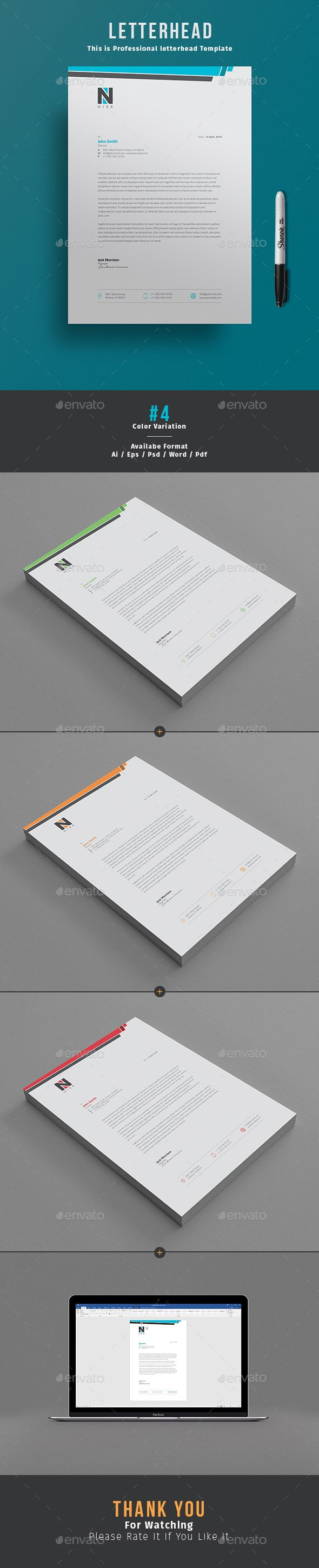 #Letterhead Design is awesome letterhead Template for company letterhead design. I would love to use this clean, tidy but stylish letterhead for my own. Available in Word, PSD & AI format.  Download http://graphicriver.net/item/letterhead-/15772850?ref=themedevisers
