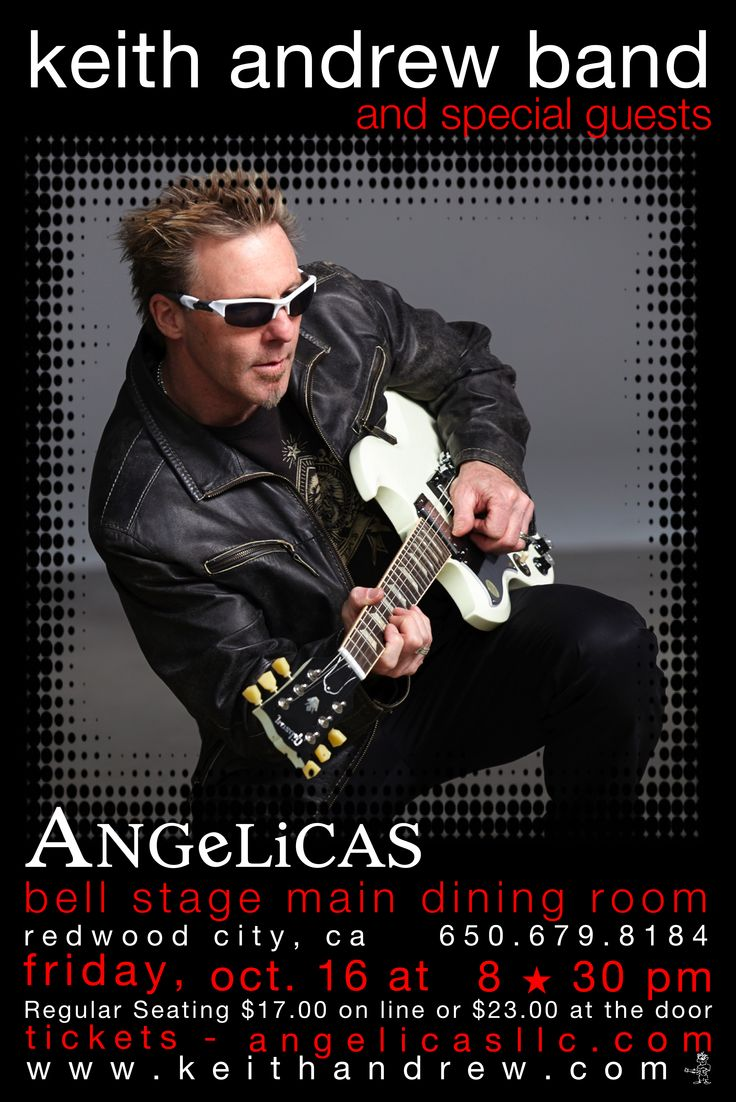 Keith Andrew Band at ANGeLiCAS in Redwood City, CA on October 16, 2015