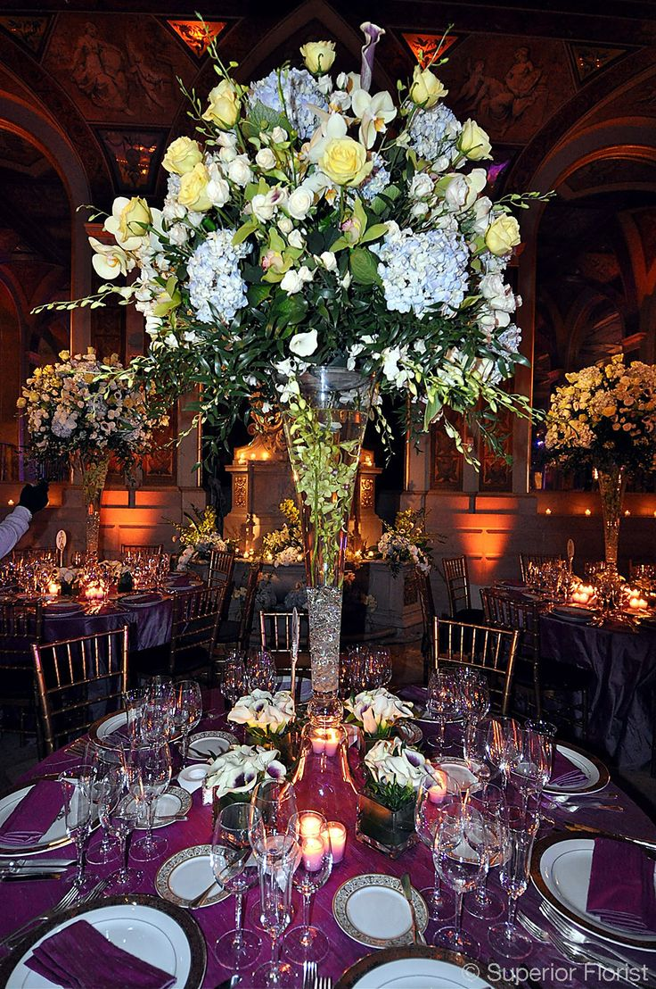 1000 images about wedding dinner centerpieces on for Elegant centerpieces for dinner table