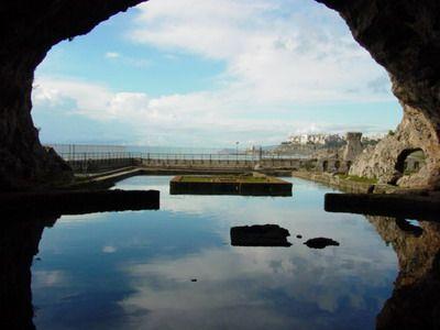 http://seniortravel.about.com/od/internationaltravel/ig/Grotto-of-Tiberius/View-of-Sea-From-Grotto.htm near Sperlonga