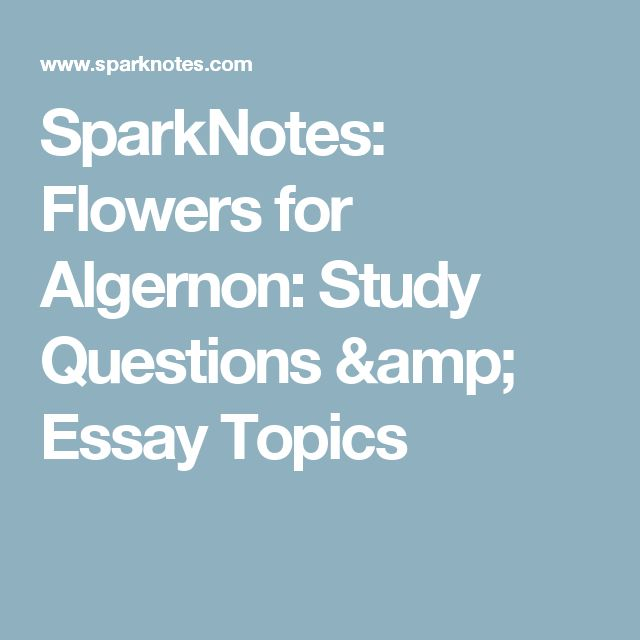 The Play of Daniel Keyes' Flowers for Algernon Essay