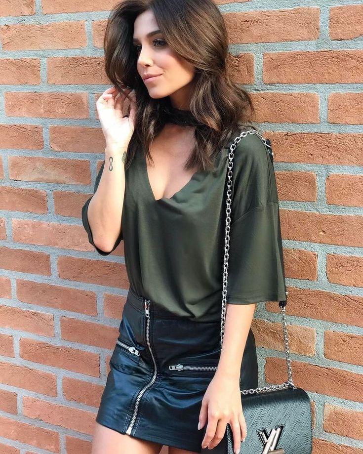 Saia de couro | Posts Blog | Fashion, Green outfits for women, Summer outfits