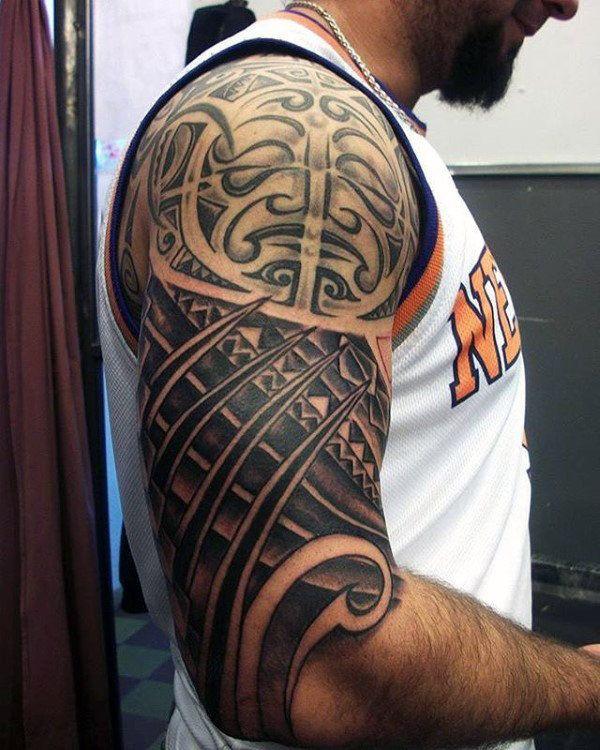 75 Half Sleeve Tribal Tattoos For Men Masculine Design Ideas In 2020 Half Sleeve Tribal Tattoos Tribal Tattoos For Men Tribal Shoulder Tattoos