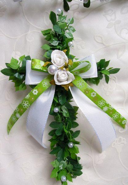 3+Kreuze+XXL+Tischdeko+Kommunion+Konfirmation+grün+von+Lavendel222+auf+DaWanda.com