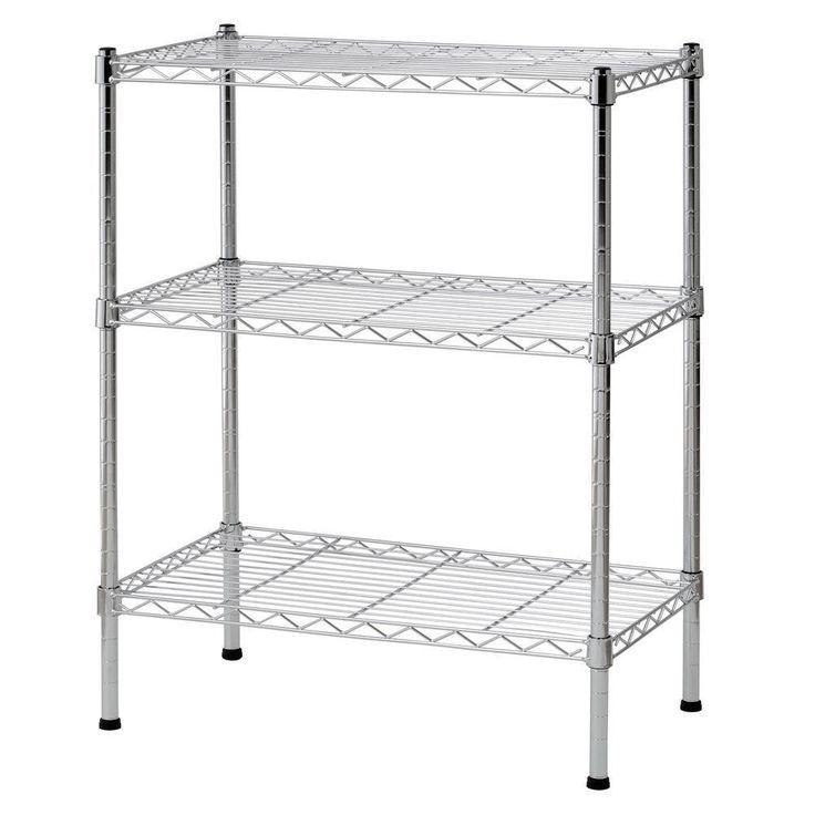 Heavy Duty 3 Shelves Adjustable Wire Shelving Storage teacher supply space
