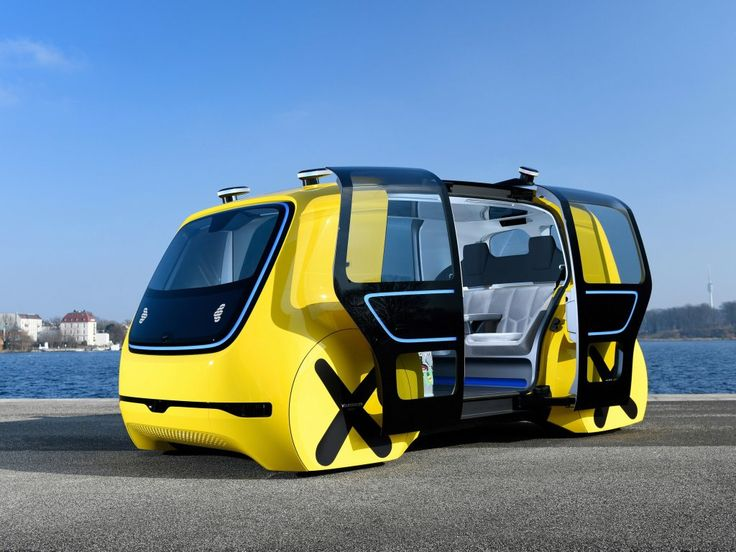 Yellow, Volkswagen Sedric, Autonomous concept car wallpaper