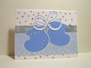 Scrapbooking Article: New Baby Congrats Cards