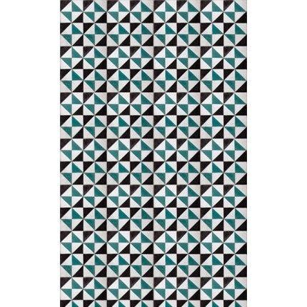 papiers peints gomtriques - Papier Peint Bleu Geometrique