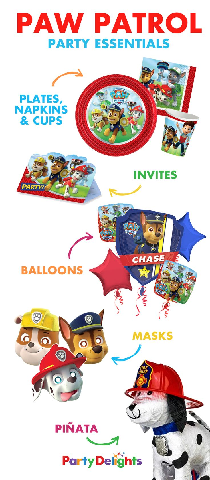 Big happy birthday badges party products party delights - Throw An Amazing Paw Patrol Birthday Party With These Paw Patrol Party Essentials Tableware