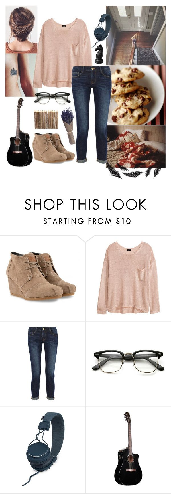 """""""What does """"home"""" mean to you?"""" by raven-shadow-creature-denoir ❤ liked on Polyvore featuring TOMS, H&M, Frame Denim, Urbanears and kitchen"""