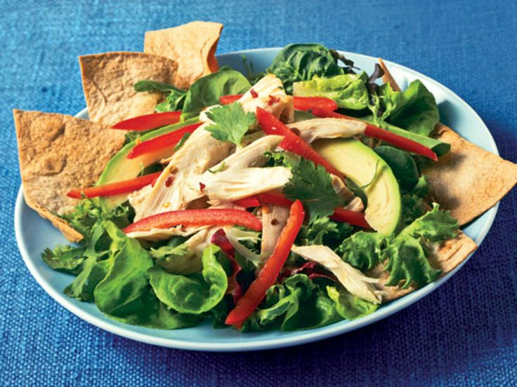 Southwestern Chicken Salad With Crispy Tortilla Chips http://www ...