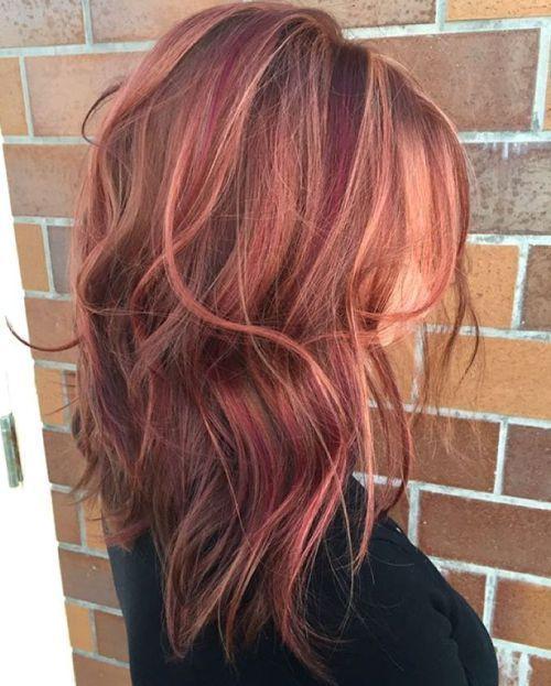 burgundy färg hår