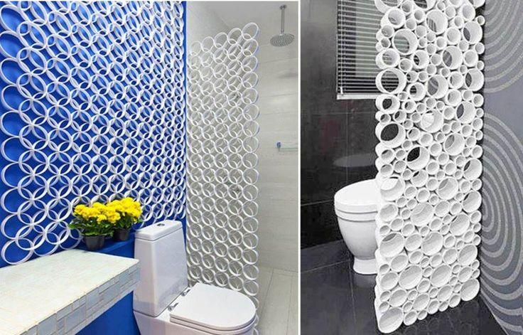 Separador de ambiente con tubos de pvc decoraci n hogar - Separador de ambientes ...