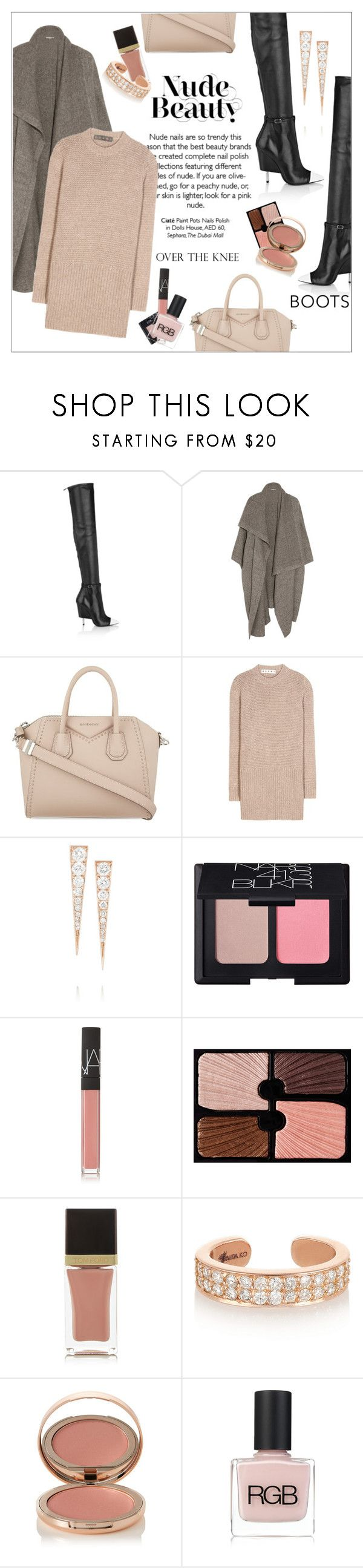 """Rock On: Over-The-Knee Boots"" by amaryllis ❤ liked on Polyvore featuring Givenchy, STELLA McCARTNEY, Marni, Anita Ko, NARS Cosmetics, Sisley, Tom Ford, Charlotte Tilbury and RGB Cosmetics"