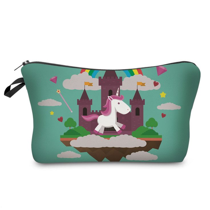 How adorable is this! Unicorn Castle Pencil Case for Girls.