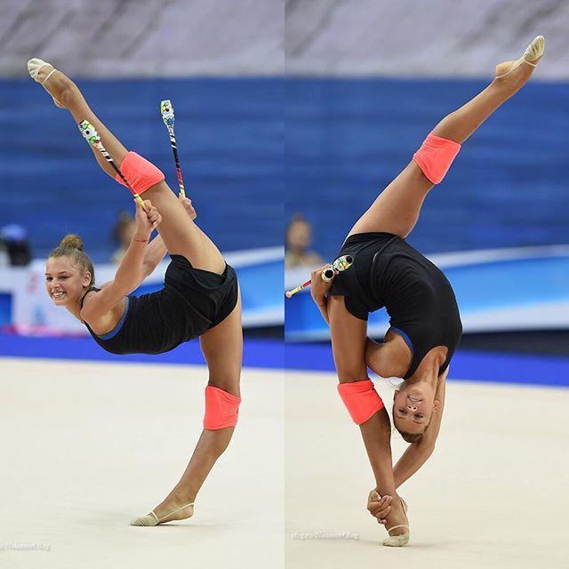 Фото гимнастка растягивается 4