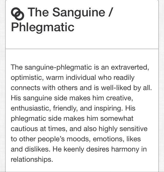 Phlegmatic melancholic personality