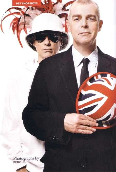 "Neil Tennant & Chris Lowe - British Singers in the group ""The Pet Shop Boys)"