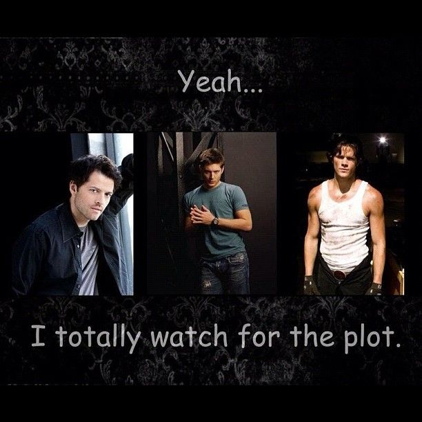 Well I do actually watch for the plot but the AMAZINGLY GORGEOUS HOT SEXY MEN on the show definitely add to the many reasons I love it