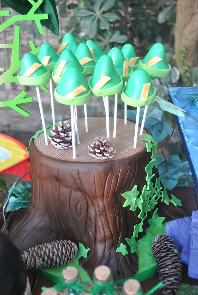 Fun cake pops at a Peter Pan birthday party! See more party ideas at CatchMyParty.com!