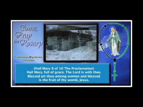 These mysteries were composed by St. John Paul II. I use it a lot. Holy Rosary - Luminous Mysteries (Thursday) - YouTube