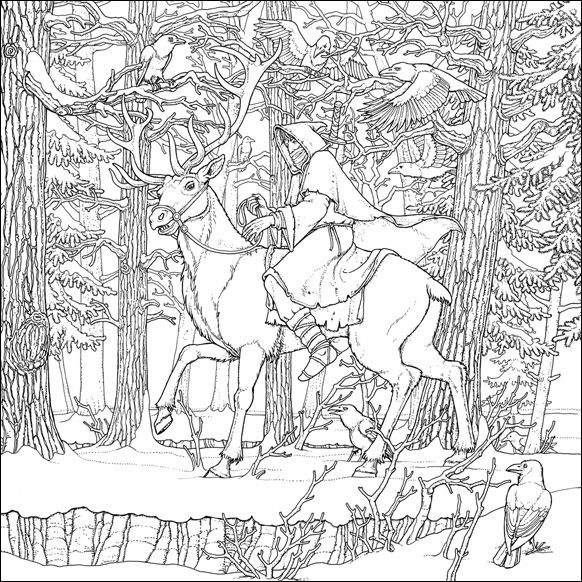 Coldhands,  illustration by Tomislav Tomic for A Game of Thrones Colouring Book