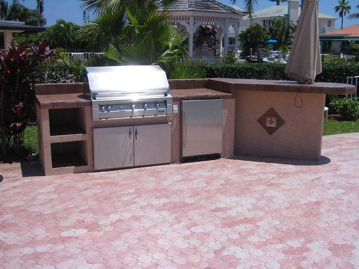 Barbeque Picnic Built In Outdoor Grills More Outdoor Kitchen Grill Island Designs With Built